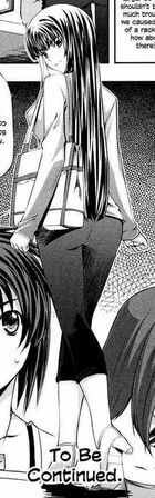 Shizuku Sangou Casual Outfits (Chapter 5 and 6) Back View for Kampfer