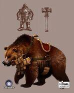 Наездник на медведе - H5 - арт