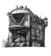 Здание гекнератор танков зарисовка