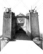 Здание Замок зарисовка