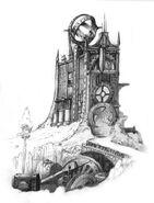Здание ратуша зарисовка