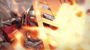 Furno Blocking Fire with His Shield