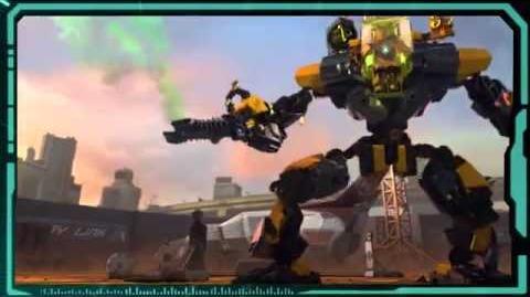Lego Hero Factory invasion from below Evo XL machine