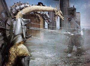 Godzilla Getting Captured