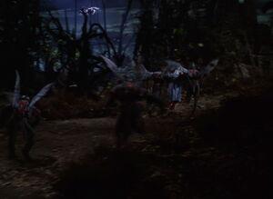 Dorothy Gale captured by Flying Monkeys