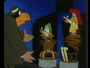 Duckula being captured by a stranger