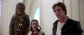 Han Chewie and Leia betrayed by Lando