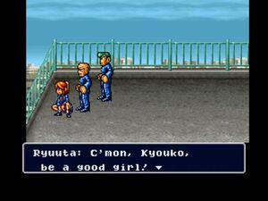 Kyoko held hostage by Ryūta