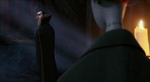 Dracula explaining the truth
