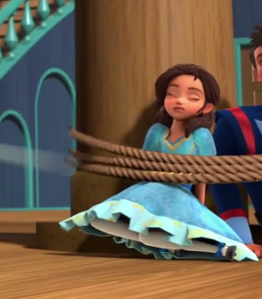 Princess Isabel tied up