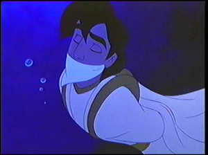 Aladdin drowning