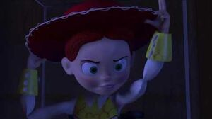 Toy story 2 woody fights jessie