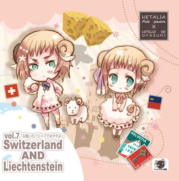 Hetalia x Goodnight with Sheep Vol. 7 - Switzerland and Liechtenstein