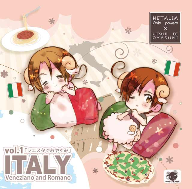 Hetalia x Goodnight with Sheep Vol. 1- Italy Veneziano and Romano