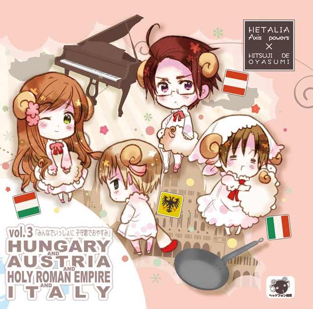 Hetalia x Goodnight with Sheep Vol. 3- Hungary, Austria, Holy Roman Empire, and Italy