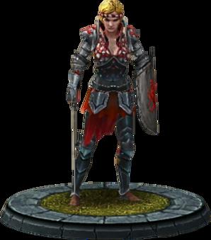 Saskia, Charaktermodell in The Witcher Battle Arena
