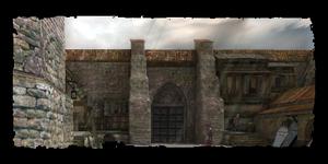 Friedhofstor Tempelbezirk