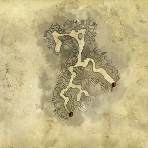 Map of the Forest cave