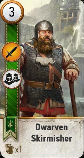 Tw3 gwent card face Dwarevn Skirmisher 3.png