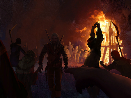 Geralt überlässt Abigail dem Mob