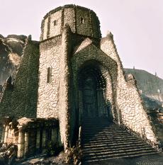 Die Ruinen der Bibliothek
