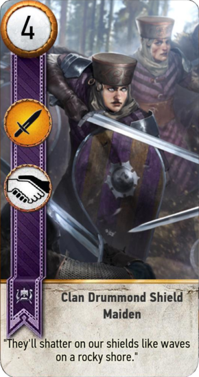 Tw3 gwent card face Clan Drummond Shield Maiden 1.png
