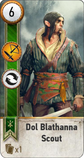 Tw3 gwent card face Dol Blathanna Scout 2.png