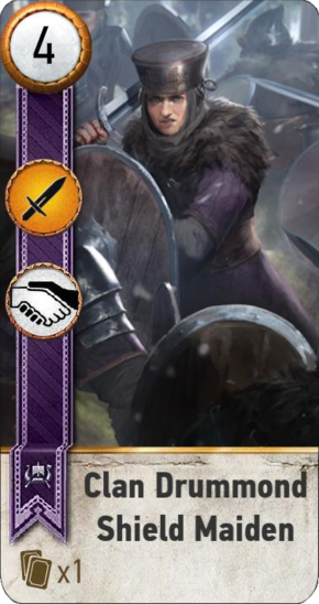 Tw3 gwent face Clan Drummond Shield Maiden 2.png