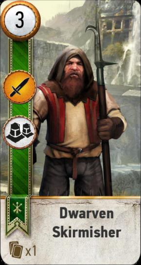 Tw3 gwent card face Dwarevn Skirmisher 1.png