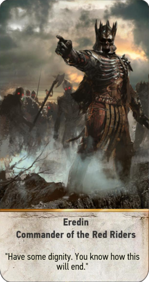 Tw3 gwent card face Eredin Commander of the Red Riders.png