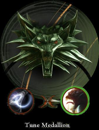 Hexer-Medallon eingestimmt auf Monster