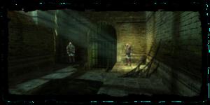 Eingang zum Salamandra-Versteck (Fisstech-Labor)
