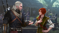 Tw3 screenshot Hearts of Stone - Geralt and Shani.png