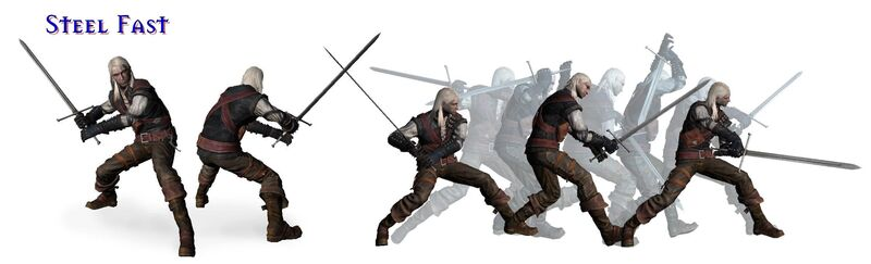 Schneller Kampfstil mit dem Stahlschwert