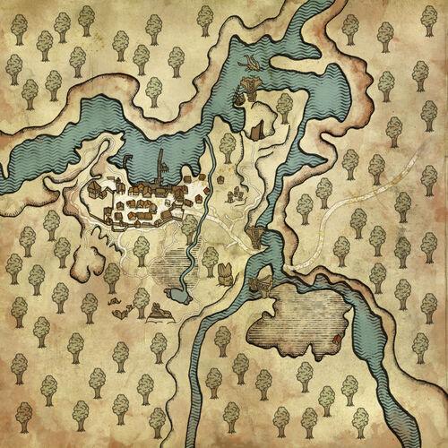 Karte von Flotsam und Umgebung
