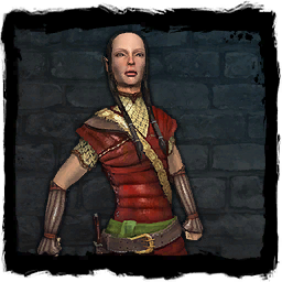 Halbelfin aus dem Computerspiel The Witcher