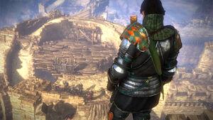 Arjan auf dem Belagerungsturm