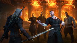 Tw3 screenshot Hearts of Stone - Geralt and bandits.png