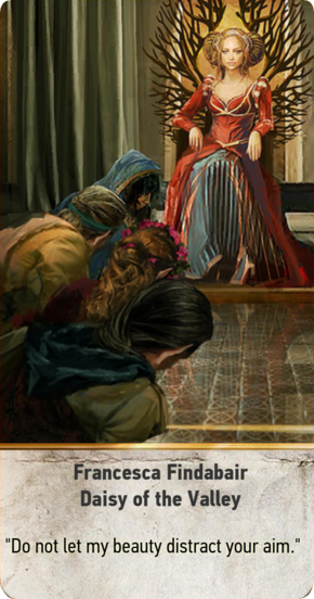 Tw3 gwent card face Francesca Findabair Daisy of the Valley.png