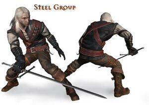 Gruppen-Kampfstil Stahl