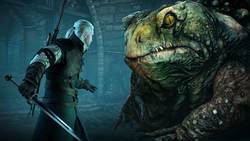 Tw3 screenshot Hearts of Stone - Geralt and toad.png