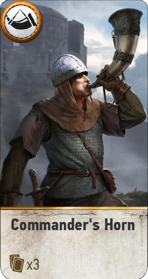 Tw3 gwent card face commanders horn.png