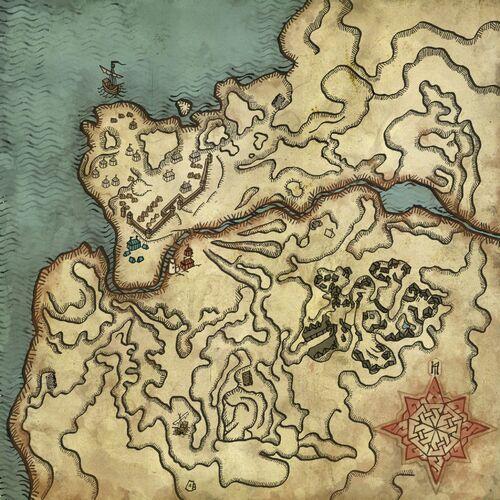 Karte der Heerlager der Kaedwener