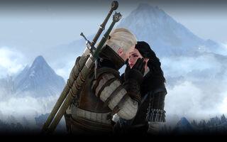 Tw3 screenshot Geralt kissing Yennefer.jpg