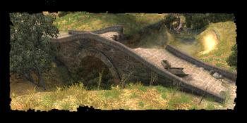 Eingestürzte Brücke Trübwasser