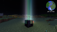 Skybeam at night