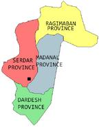 Provinces Map of Hezeristan