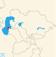 Map of Hezeristan in Central Asia