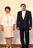 President of the Republic Ragimov with Kyrgyz President Roza Otunbayeva, 2011