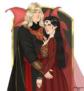 Rey Aegon V y reina Betha by Chillyravenart©